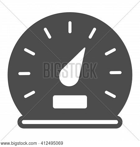 Car Speedometer Solid Icon, Car Parts Concept, Car Instrument Sign On White Background, Speedometer