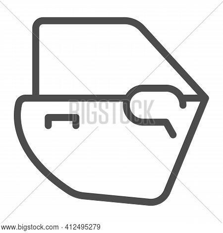Car Door Line Icon, Car Parts Concept, Automobile Door Sign On White Background, Auto Service And Ca