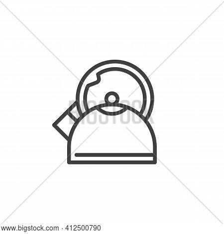 Teapot Kettle Line Icon. Linear Style Sign For Mobile Concept And Web Design. Kettle Outline Vector