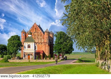 Belarus, Church Of St. Michael The Archangel In The Village Synkovichi Grodno Region, Gothic, Fortif