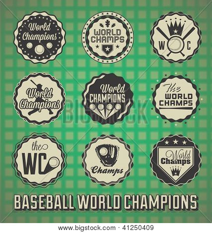 Baseball World Champion Labels