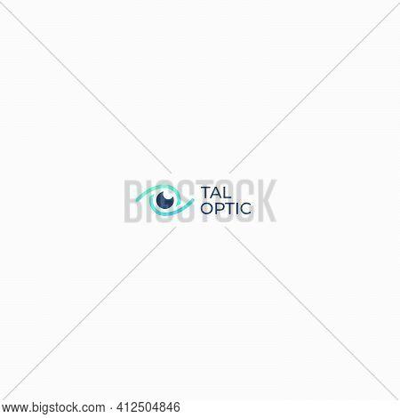 Simple Eye Glasses For Optic Store Logo
