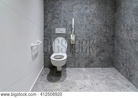 Public Disabled Toilet In A Large Building