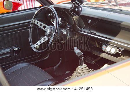 Red Ford Maverick Grabber Interior