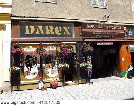 Bratislava, Slovakia - 10 Jun 2011: The Shop In Bratislava, Slovakia