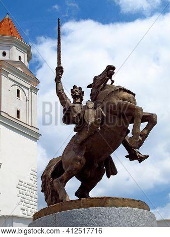 Bratislava, Slovakia - 10 Jun 2011: The Monument In The Castle In Bratislava City, Slovakia