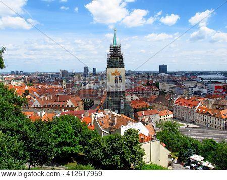 Bratislava, Slovakia - 10 Jun 2011: The View On Old City In Bratislava, Slovakia