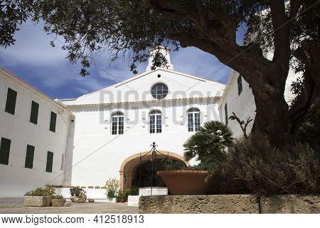 Es Mercadal, Menorca / Spain - June 25, 2016: View From Of Mount Toro Sanctuary, Es Mercadal, Menorc