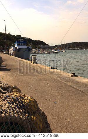 Mahon, Menorca / Spain - June 25, 2016: Mahon Harbour, Mahon, Menorca, Balearic Islands, Spain