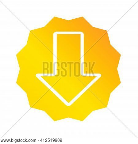 Download Icon. Download Illustration. Flat Vector Icon. Can Use For, Icon Design Element, Ui, Web, A