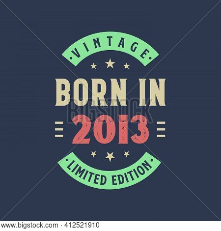Vintage Born In 2013, Born In 2013 Retro Vintage Birthday Design