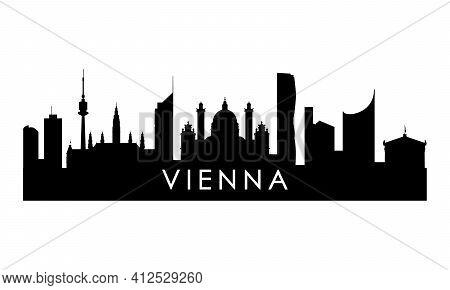 Vienna Skyline Silhouette. Black Vienna City Design Isolated On White Background.