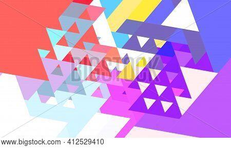Multi Color Retro Vintage Triangular Pattern Background Illustration.