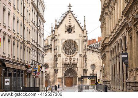 April 7, 2019. Lyon, France.saint Bonaventure Church-medieval Church In Lyon