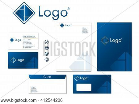 Corporate Design Stationary Logo Icons Modern Vector Technology Business