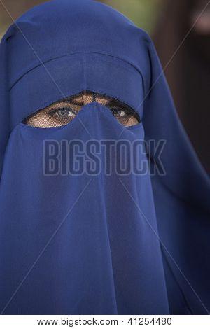 Portrait of a veiled woman