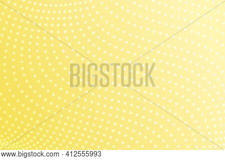 Color Of 2021 Year Illuminating Yellow Halftone Background. Abstract Gradient Vector Background. Yel
