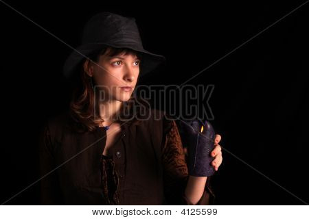 Girl With A Big Candle