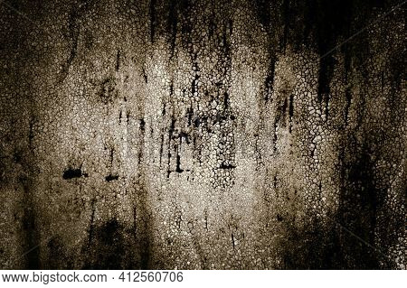 Abstract Horror Old Empty Ragged Painted Metal Cracked Grunge Scary Dark Mystical Monochrome Backgro