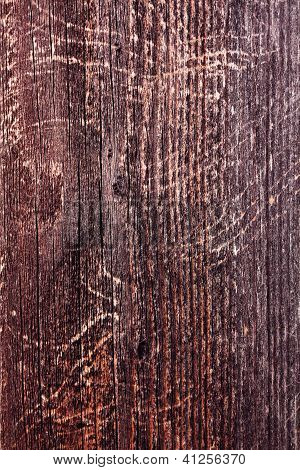 Scratched Wood Fence Plank with Knots