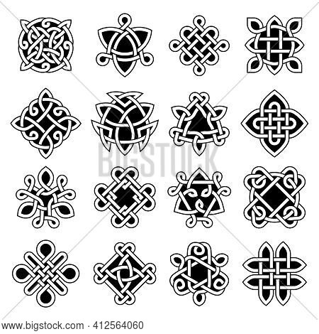 Celtic Trinity. Ancient Geometrical Symbols Celtic Knots Christian Tattoo Recent Vector Set