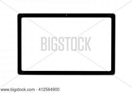 Tablet Laptop Computer Pc With Blank Screen Mock Up Isolated On White Background. Tablet Isolated Sc