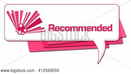 Recommended Text Written Over Pink Comment Background.