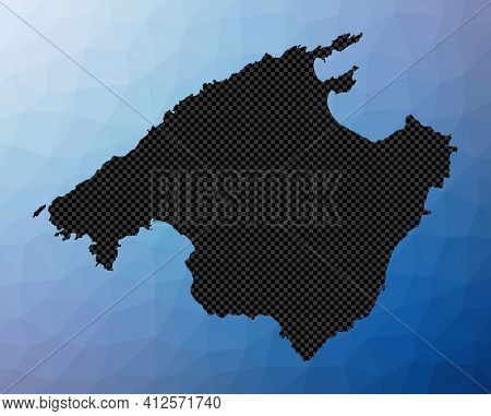 Majorca Geometric Map. Stencil Shape Of Majorca In Low Poly Style. Cool Island Vector Illustration.