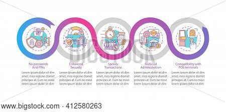 Hacking Personal Data Vector Infographic Template. Speedy Transactions Presentation Design Elements.