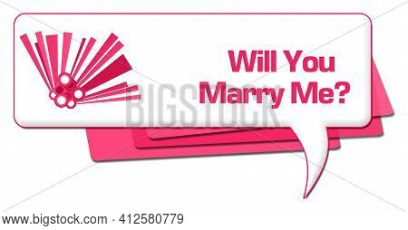 Will You Marry Me Text Written Over Pink Background.