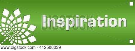 Inspiration Text Written Over Green Horizontal Background.