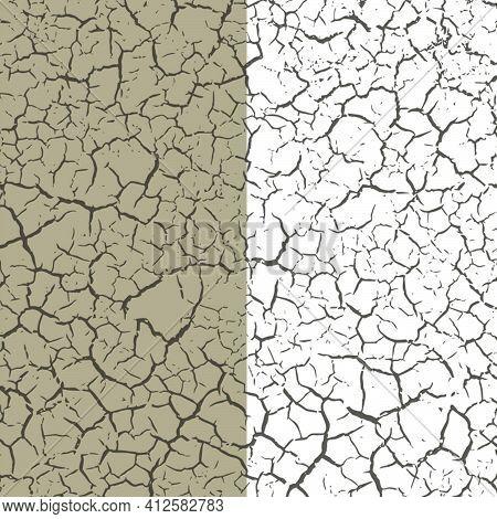 Dry Crack Lifeless Cracked Old Ground Texture