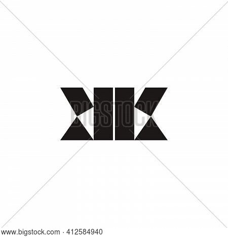 Abstract Letter Kk Simple Flat Triangle Geometric Logo Vector