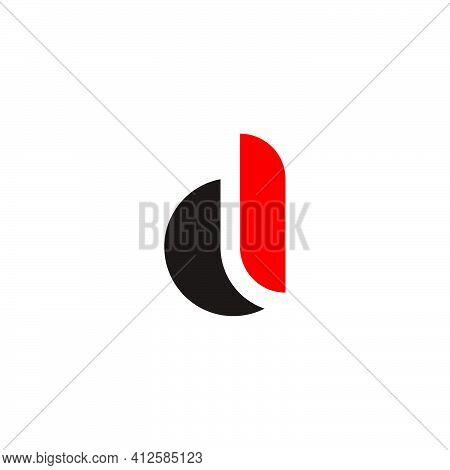 Letter D Curves Geometric Simplicity Concept Logo Vector