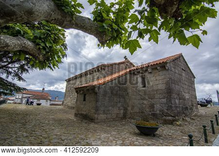 Belmonte, Portugal; May 2017 : Church Of Saint James And Pantheon Of Cabrales In The Historic Town O