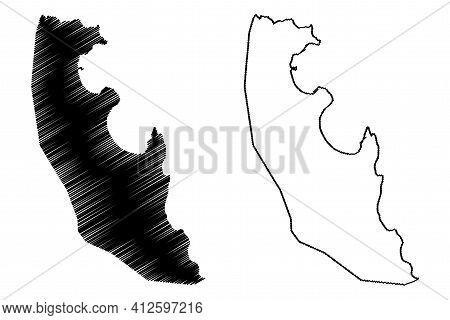 Agua Grande District (democratic Republic Of Sao Tome And Principe, Saint Thomas And Prince) Map Vec