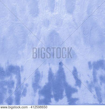 Indigo Tie Dye Shibori. Clouds Traditional Textile Design. Sky Ink Paint Surface. Navy Geometric Eth