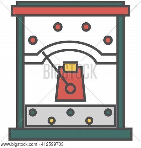 Vector Meter Or Voltmeter, Electric Ampere Or Voltage Counter