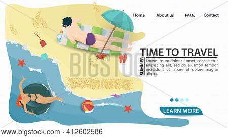 Banner For The Design Of Advertising Tourist Websites And Mobile Applications, On The Theme Of Summe