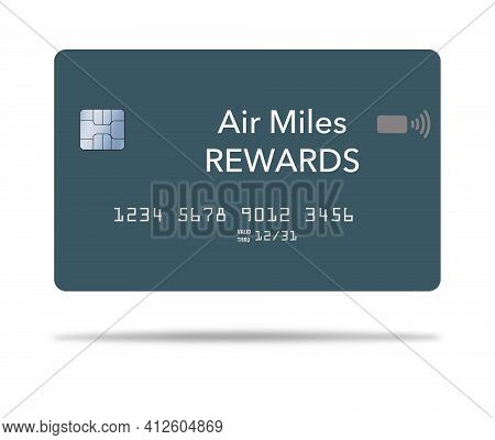Here Is A Air Miles Reward Credit Card. It Is 3-d And Generic.