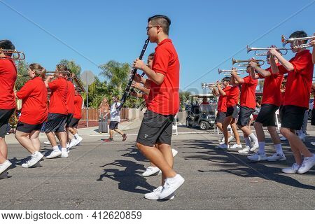 Mont Carmel High School Marching Band, 4th July Independence Day Parade At Rancho Bernardo, San Dieg