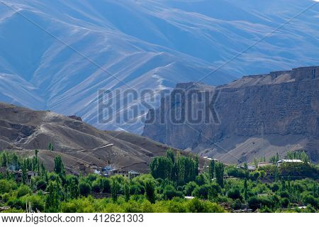Layers Of Himalayan Mountains, View Of Leh Ladakh Landscape, At Mulbekh, Light And Shadow, Jammu And