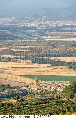 Panoramic Views Of Loarre, Aragon, Huesca, Spain From Atop The Village, Castle Of Loarre