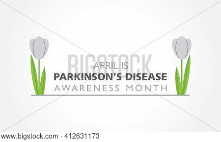 Vector Illustration Of World Parkinson\\\'s Disease Awareness Month Observed In April Every Year