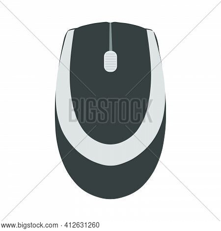 Pc Computer Mouse Vector Illustration Technology With Button Equipment Device Icon. Pc Object Isolat