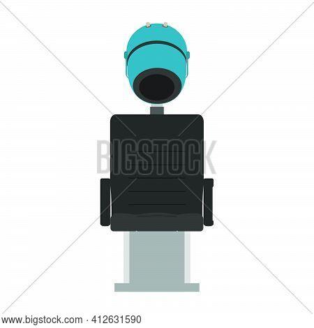 Hair Steamer Salon Spa Bowl Icon Vector Illustration. Woman Fashion Hair Steamer Cartoon Hand Machin
