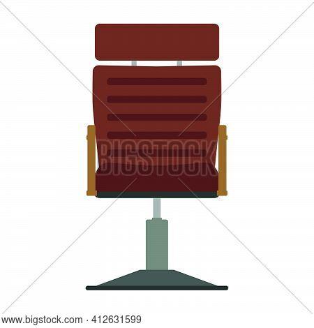 Barber Chair Vector Illustration Icon Design Equipment Salon. Hairdresser Barber Chair Vintage Seat