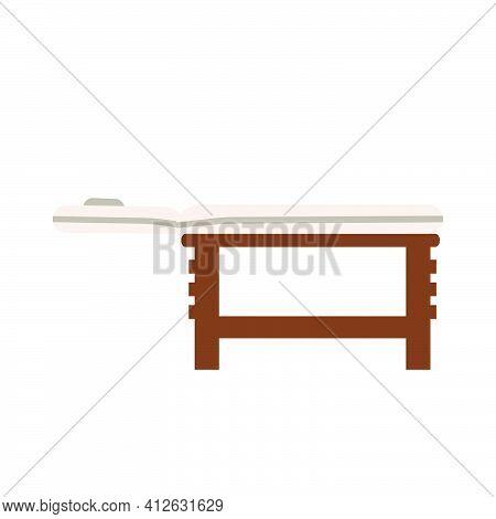 Massage Table Health Spa Vector Illustration Care Treatment Icon. Medicine Massage Table Therapy Sym