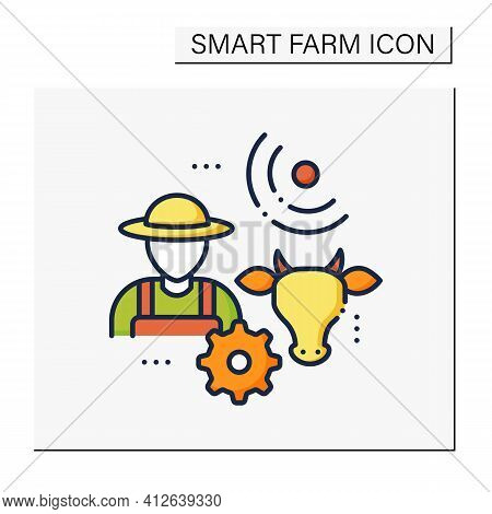Animal Breeder Color Icon. Responsible For Producing Animals For Business. May Assist With Breeding