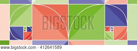 The Golden Ratio Divine Proportion And The Golden Spiral. Building A Spiral.